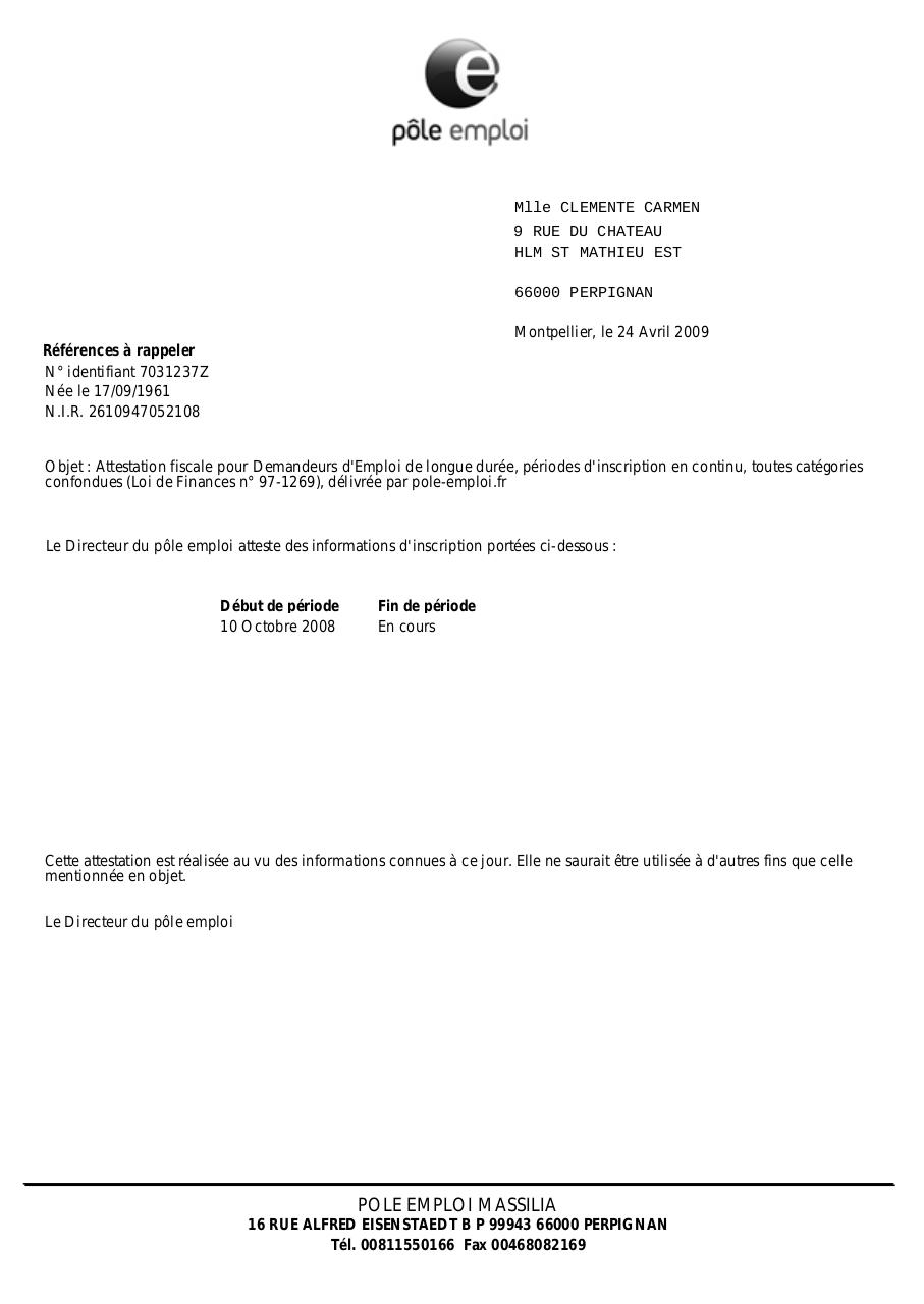 Attestation Loi De Finances Attestation Loi Des Finances Pdf