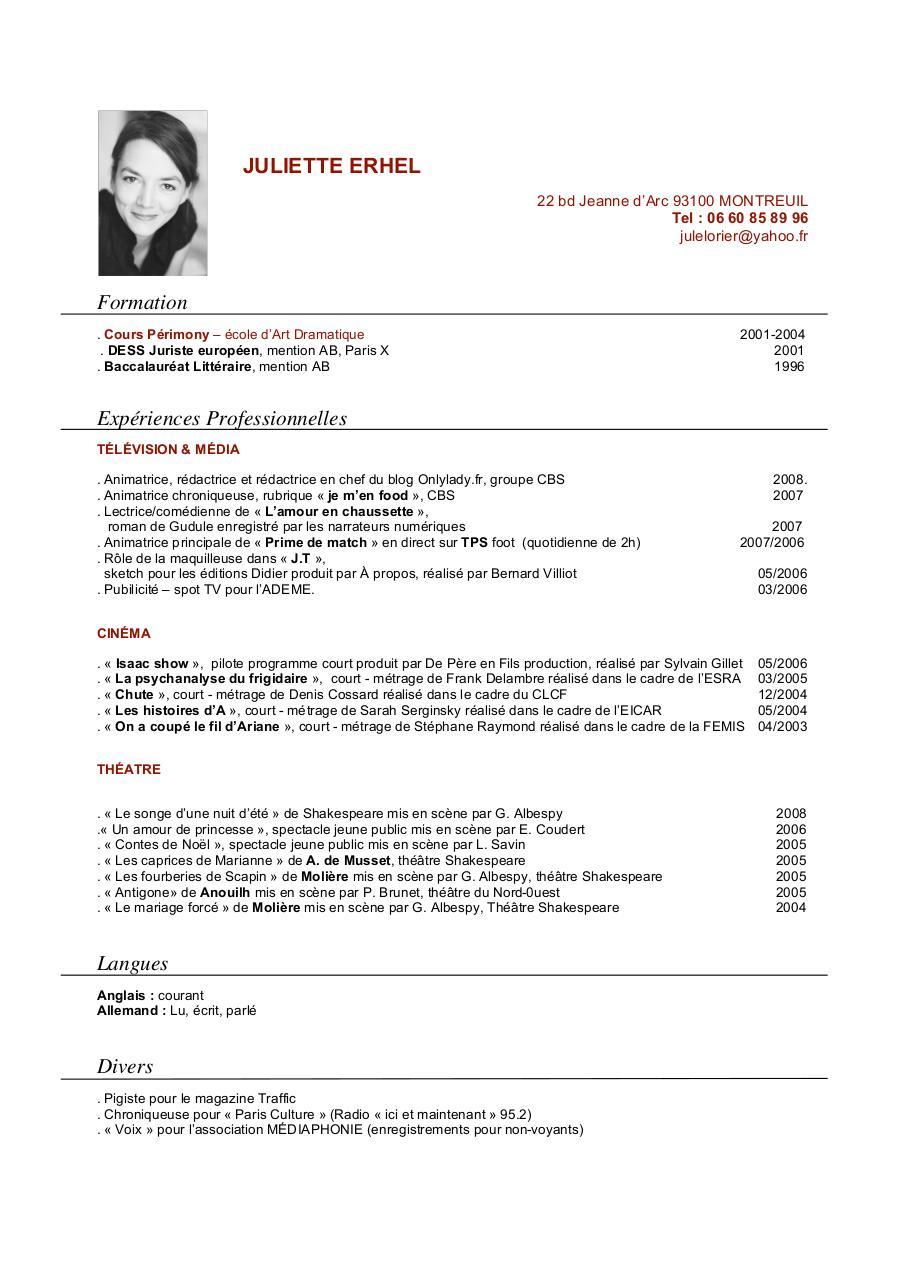 cv-juliette pdf par juliette