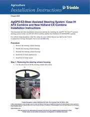 AgGPS Autopilot Automated Steering System Installation
