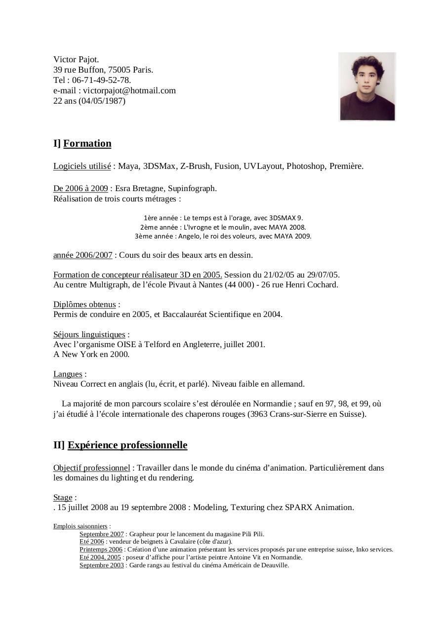 cv victor pajot pdf par victor pajot