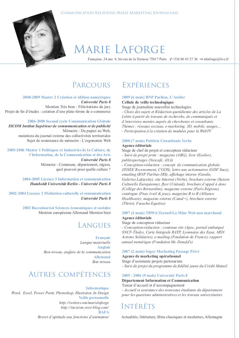 cv terdav par cwiosna roques - cv responsable de communication digitale pdf