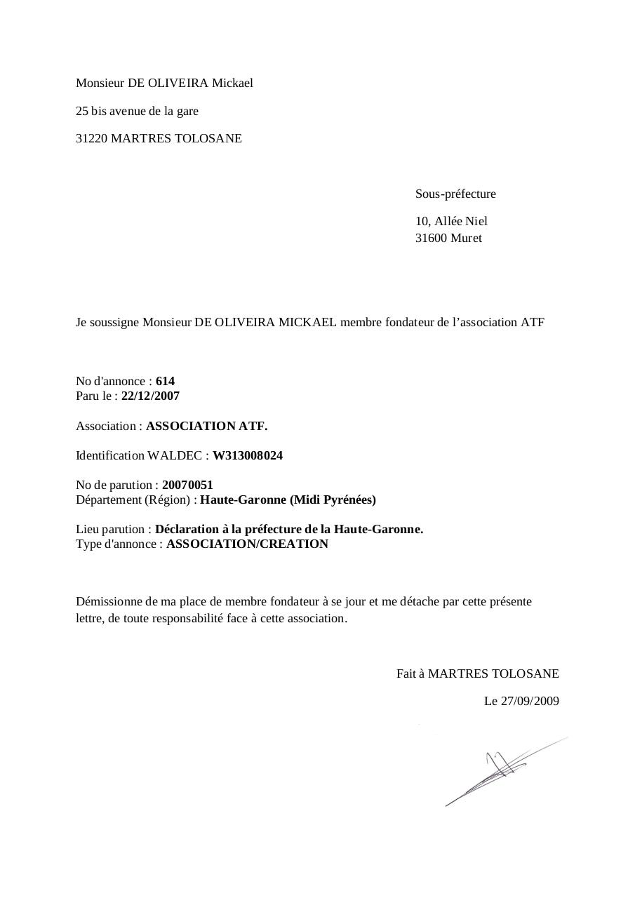 Aperçu du document Lettre de demission.pdf - page 1/1
