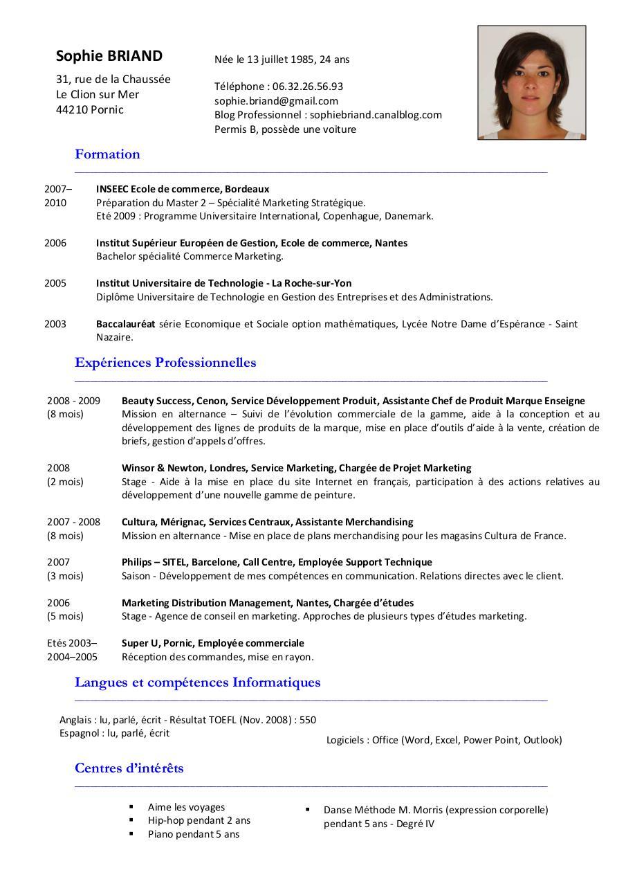 cv sbriand modifi u00e9 par royoe - cv sophie briand pdf