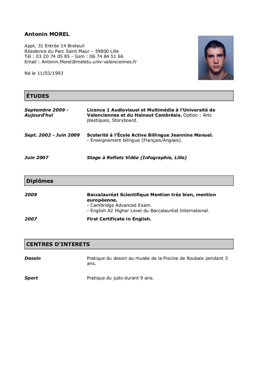 CV   Fichier PDF