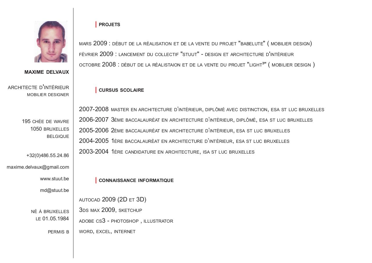 Cv 2009 Page 1 Cv Juin 2009 Pdf Fichier Pdf