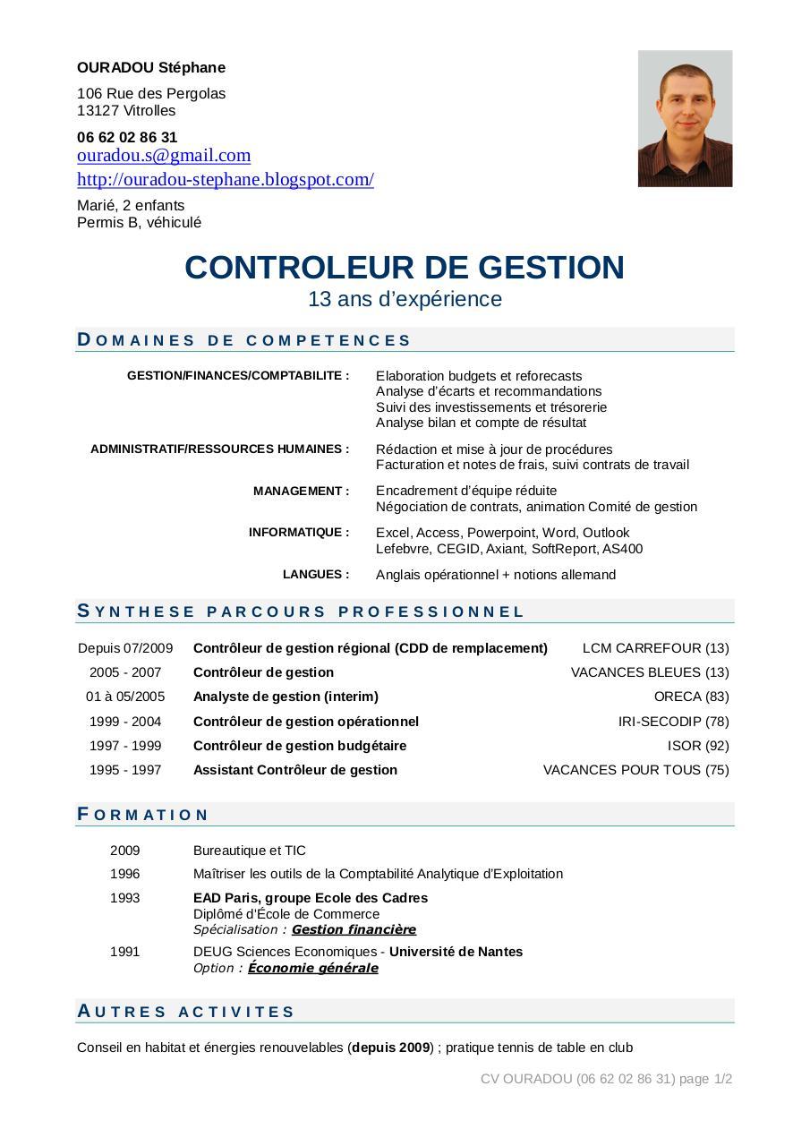 cv cdg st u00e9phane ouradou 2009 par st u00e9phane - cv cdg stephane ouradou 2009 pdf