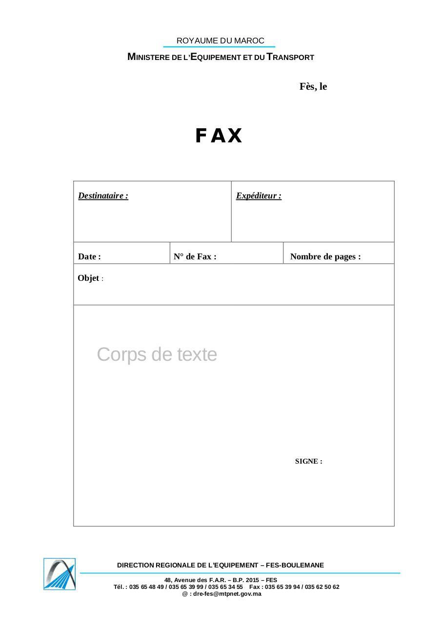 fax cover pdf