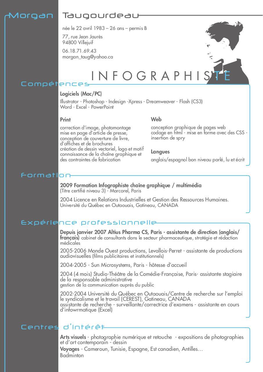 cv 11 indd - cv morgan infographiste pdf