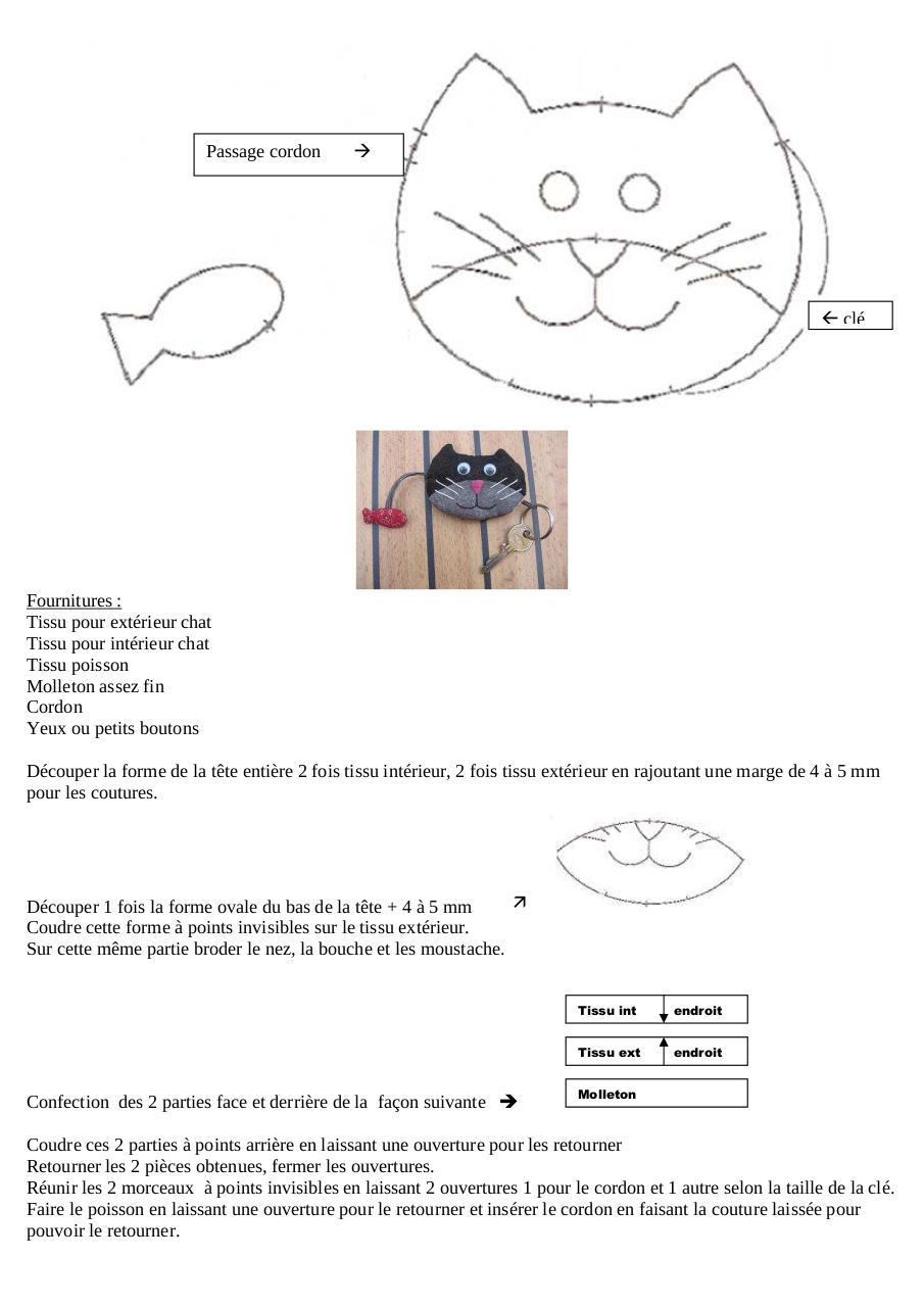 Aperçu du document Chat porte clé.pdf - page 1/1