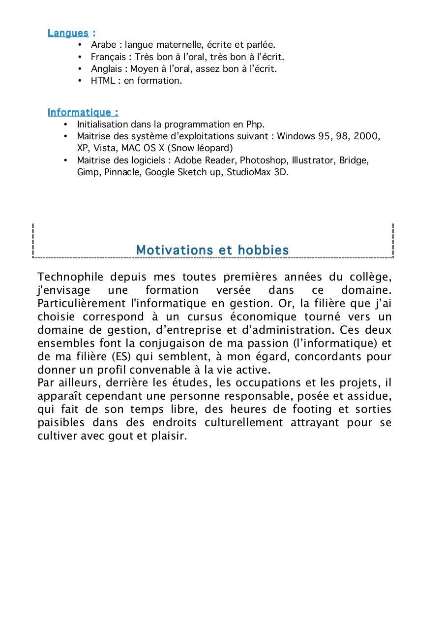 cv docx par nora bennis - cv 1 pdf