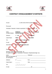 exemple de contrat dj