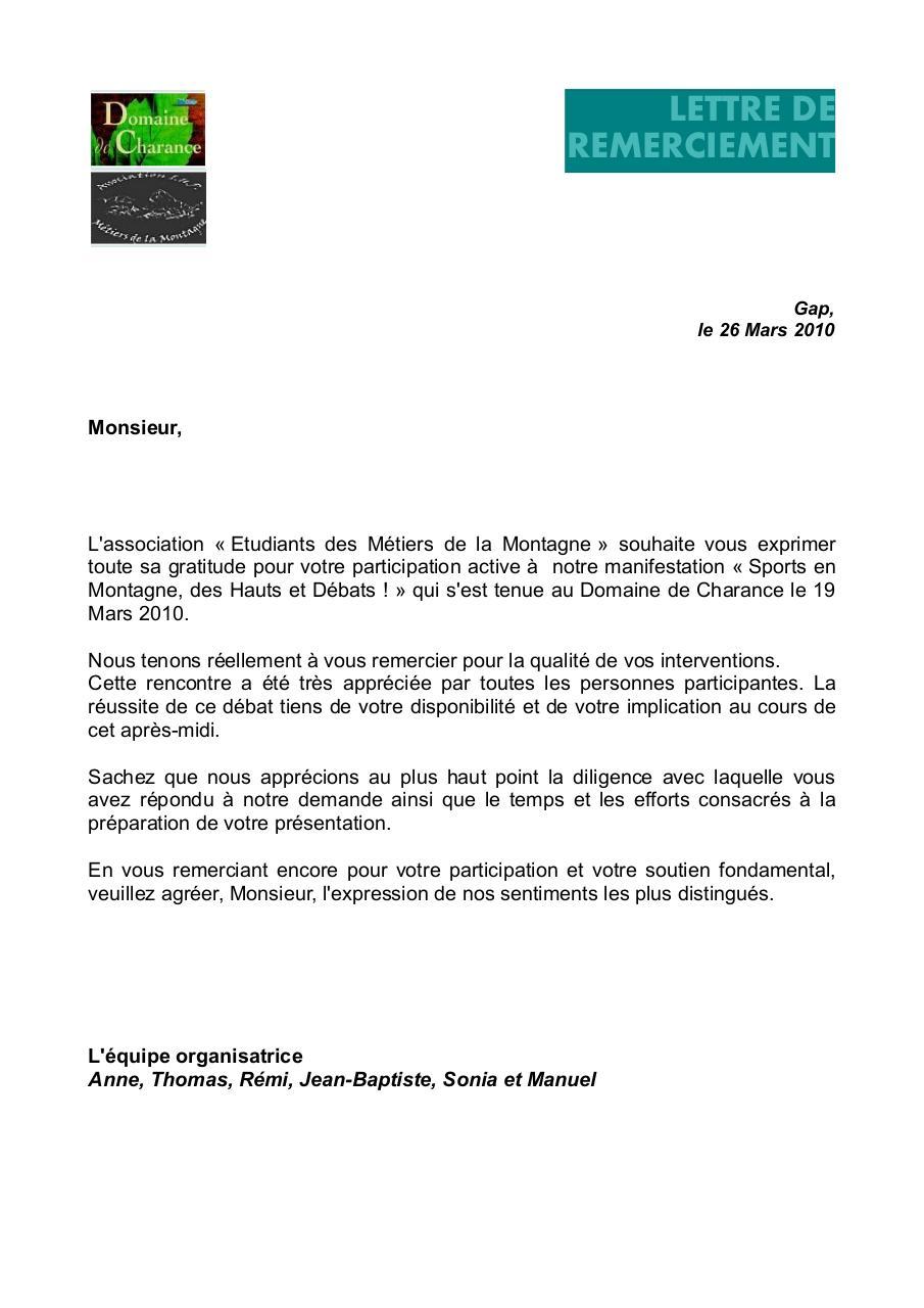 courrier remerciement par ANNE DOMAINE   Fichier PDF