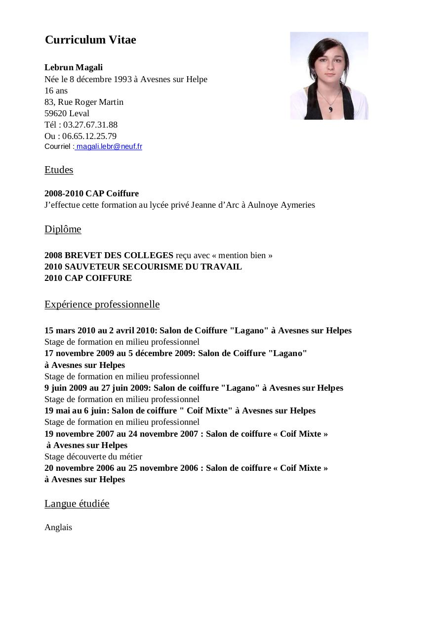 cv par administrateur