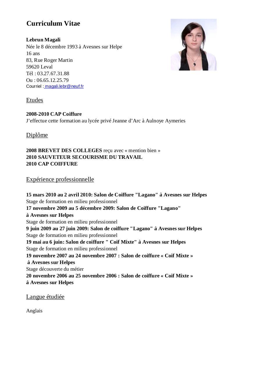 cv pdf par administrateur