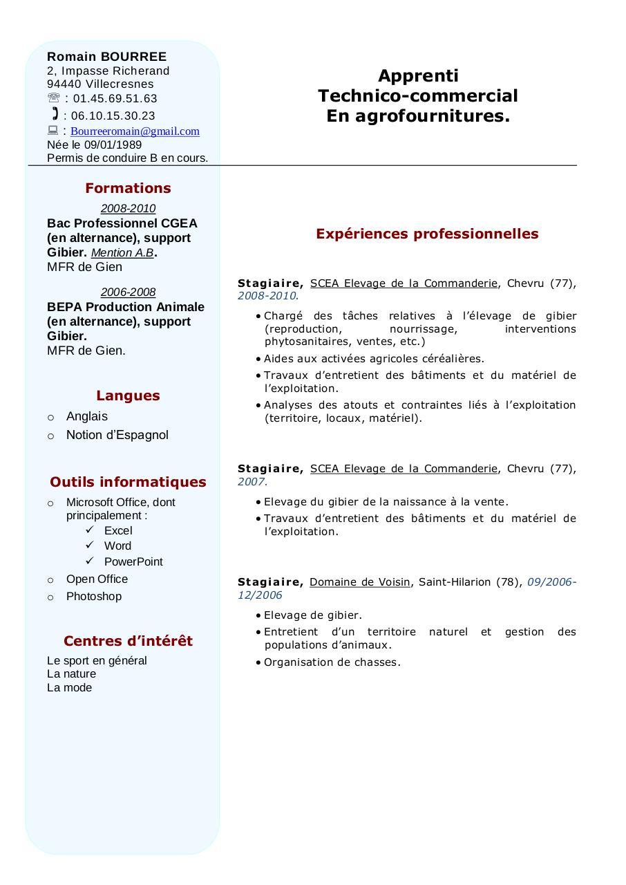 exemple cv par exemple cv - cv pdf