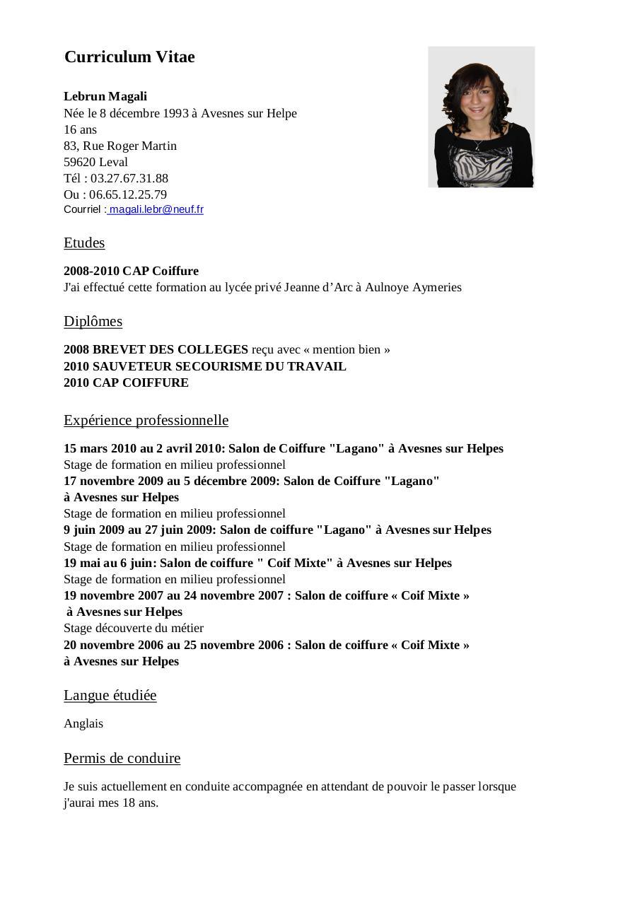cv magali pdf par magali