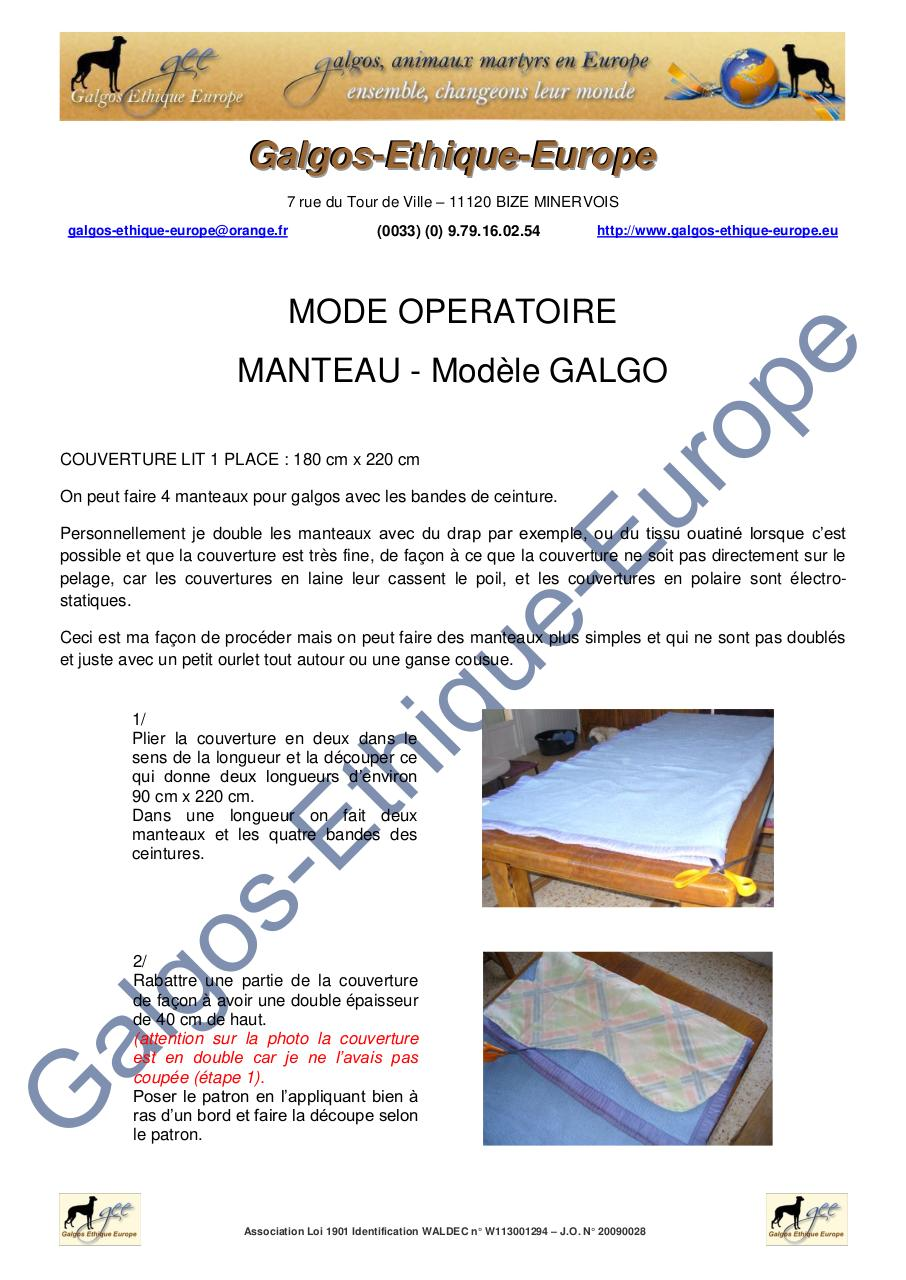 GEE - MODE OPERATOIRE - Manteau galgo GM.pdf - page 1/11