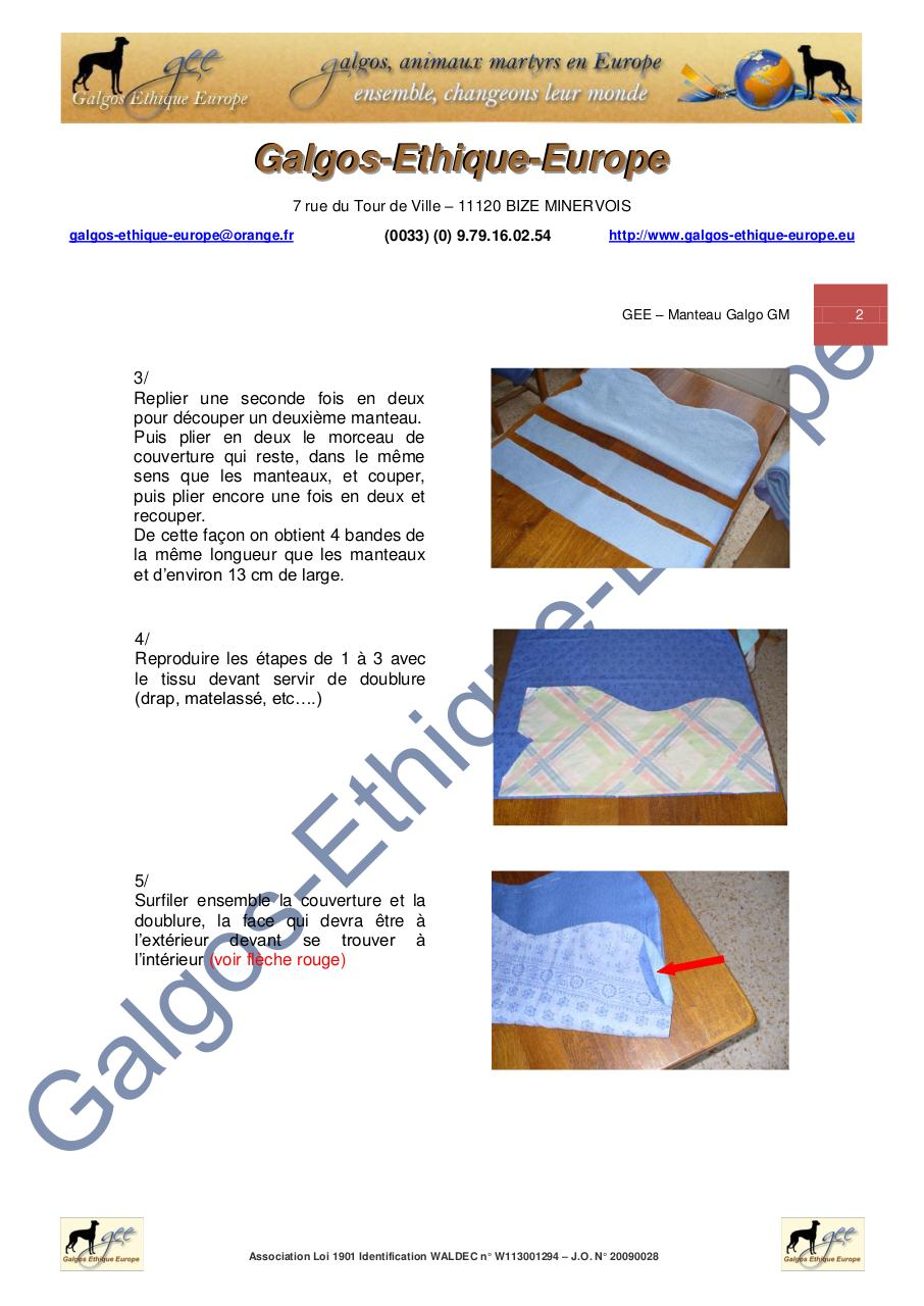 GEE - MODE OPERATOIRE - Manteau galgo GM.pdf - page 2/11