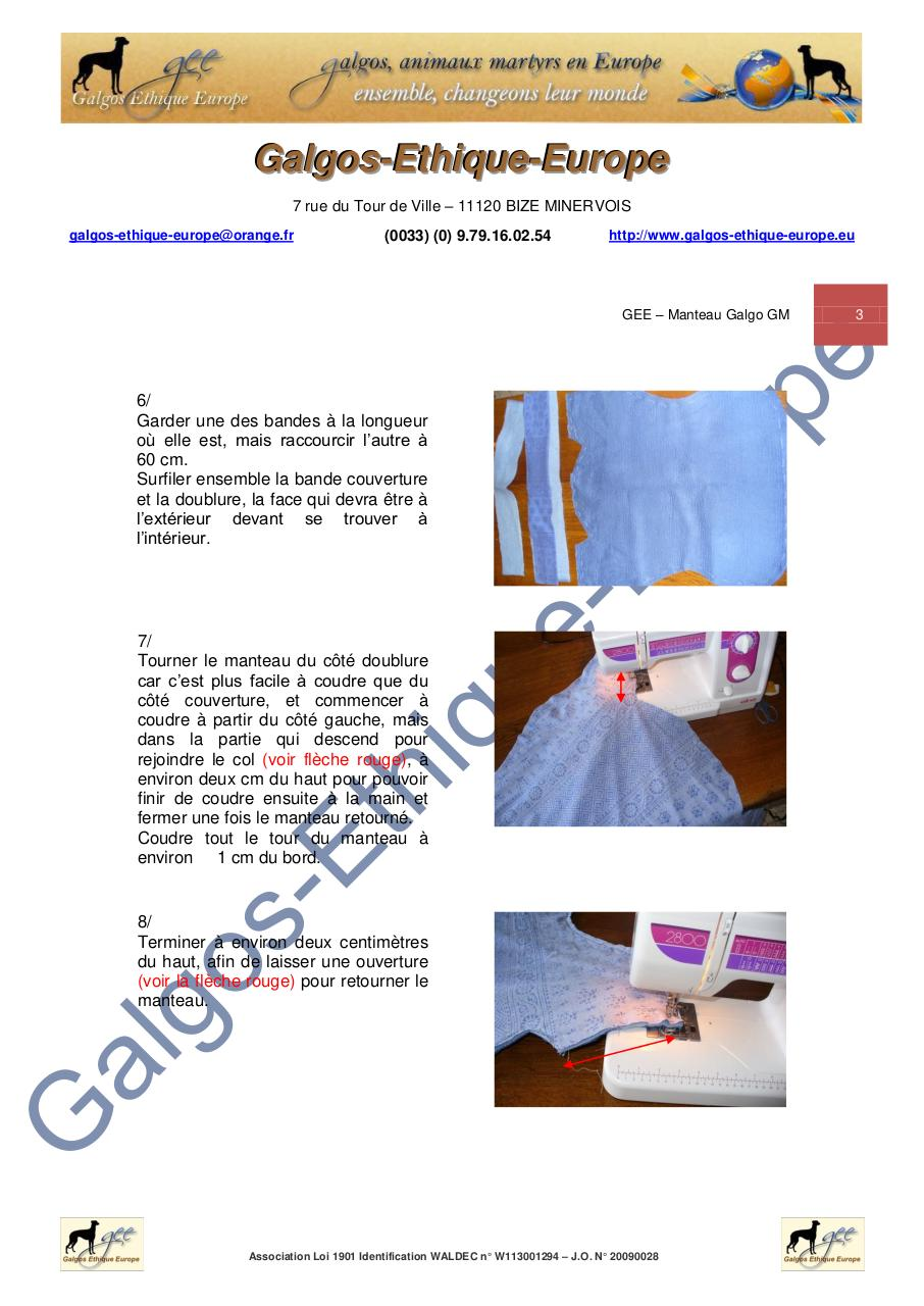 GEE - MODE OPERATOIRE - Manteau galgo GM.pdf - page 3/11