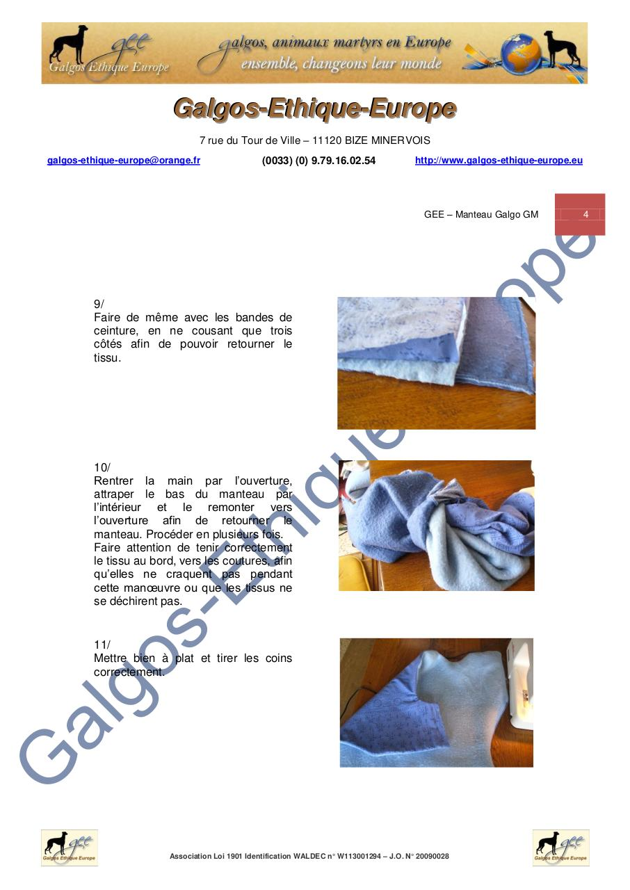 GEE - MODE OPERATOIRE - Manteau galgo GM.pdf - page 4/11