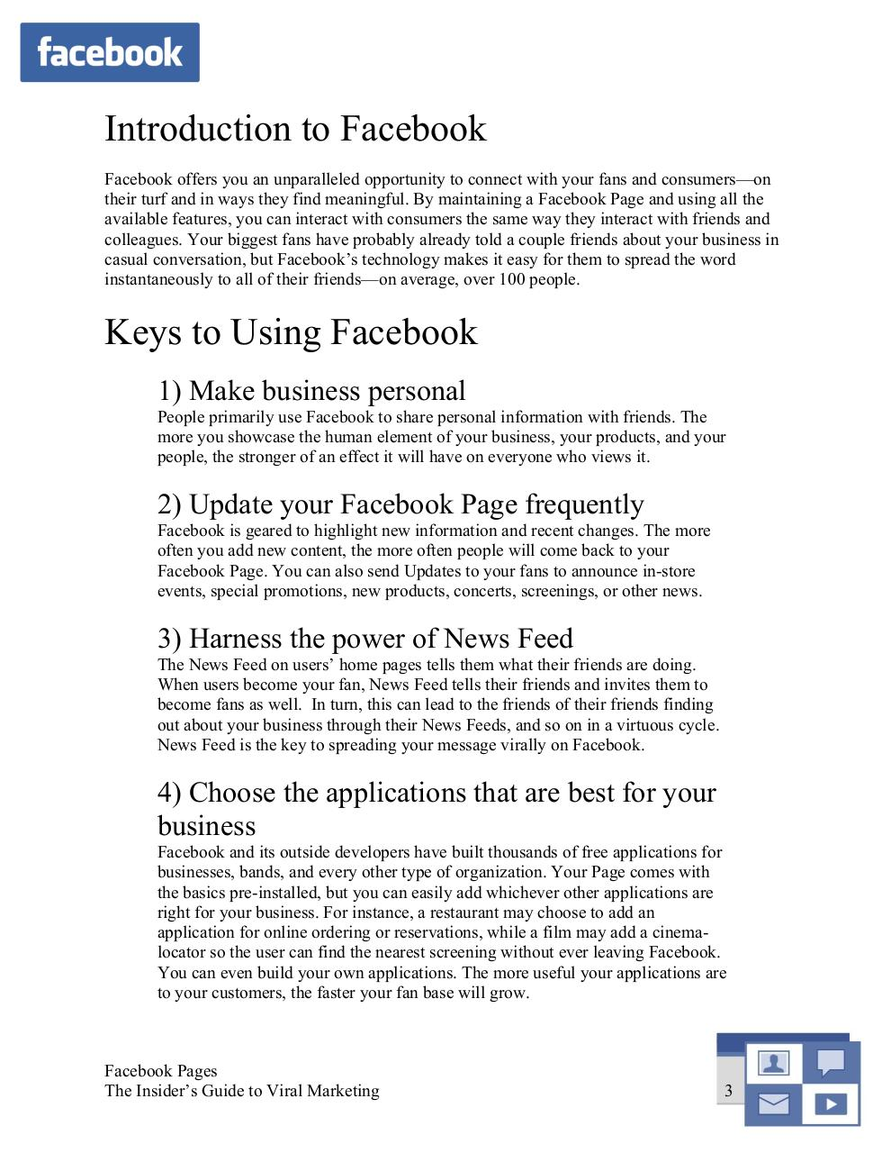 Aperçu du fichier PDF facebook-pages-the-insiderguide-to-viral-marketing.pdf - page 3/28