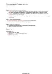 economie methodologie de l analyse de texte