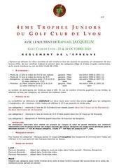 reglement trophee junior
