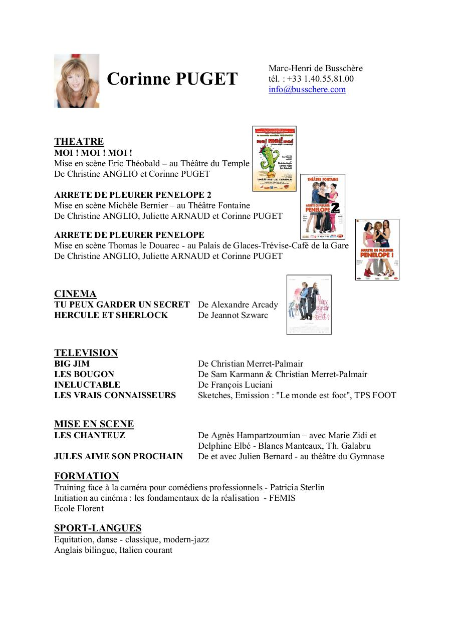cv corinne puget new doc par corinne puget - cv corinne puget new pdf