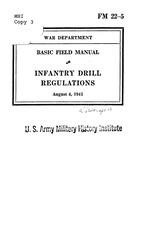 fm 22 5 infantry drill regulatons 1943