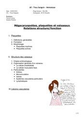 tissu sanguin mgacaryopose plaquette et vaisseaux 2409