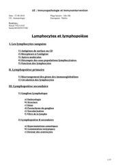 immunologie lymphopoiese 27 09 2010