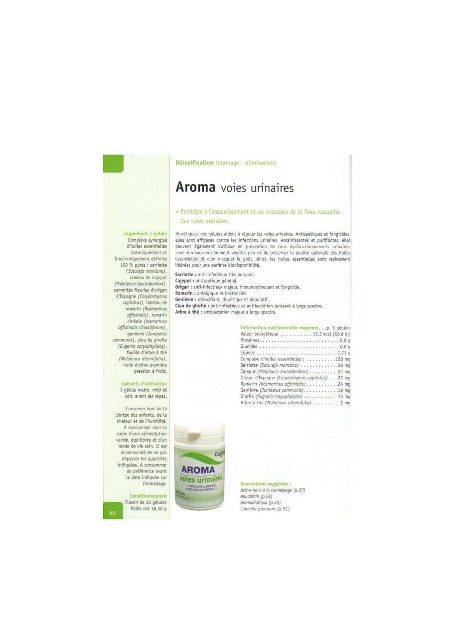 Aroma voies urinaires par Daniele - Fichier PDF