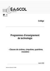 Fichier PDF programmes techno college 2008 2