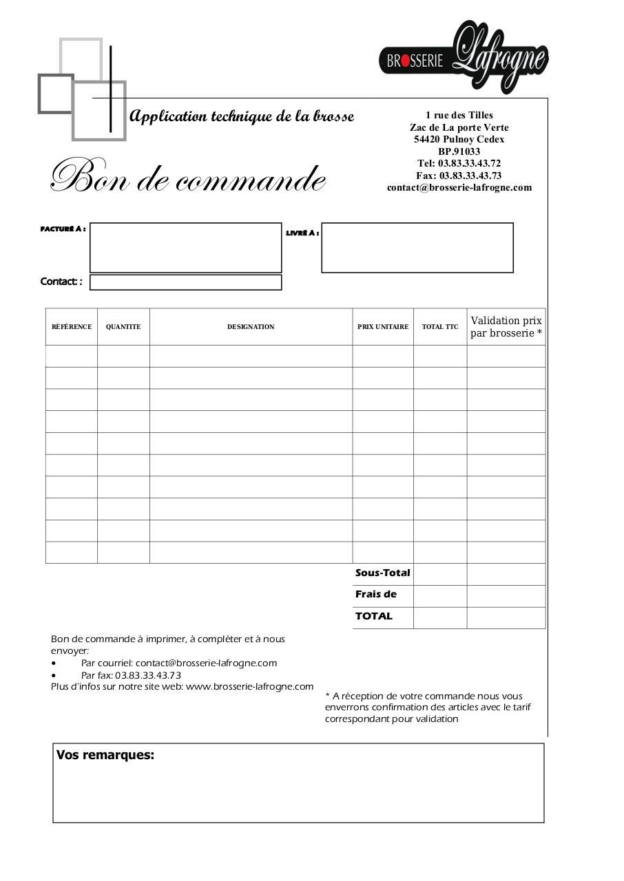 Bon De Commande Par Bureauc Fichier Pdf