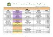 calendrier des concours faccc 2010 2011