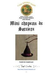 Fichier PDF mini chapeau sorciere