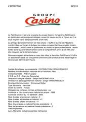 l entreprise groupe casino