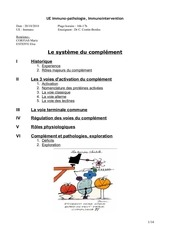 p2 ueimmuno systemeducomplement 20octobre