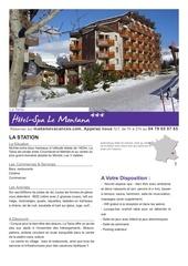 la tania hotel le montana hiver1011 fr