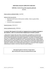 mentions legales sprycel 2l v5