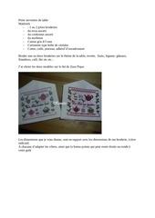 Fichier PDF porte serviettes de table