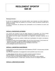 reglement sportif du smi29 nouveau