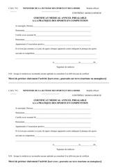 certificat medicale