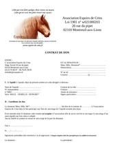 contrat don chevaux adoptes