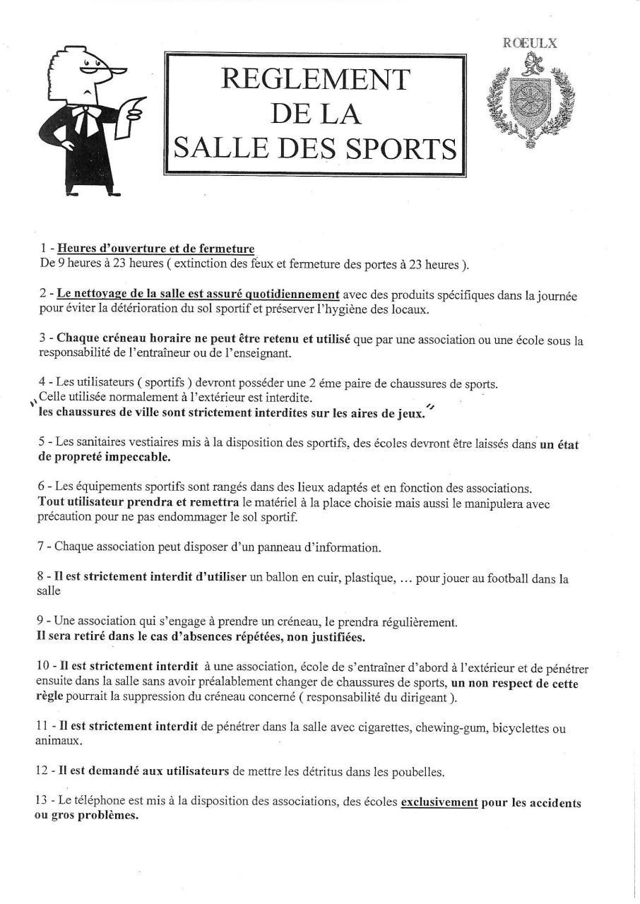 photo pleine page par chris caro r 233 glement de le salle des sports pdf fichier pdf