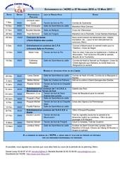planning du 7 novembre 2010 au13 mars 2011