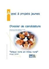 dossier de candidature apj 2010