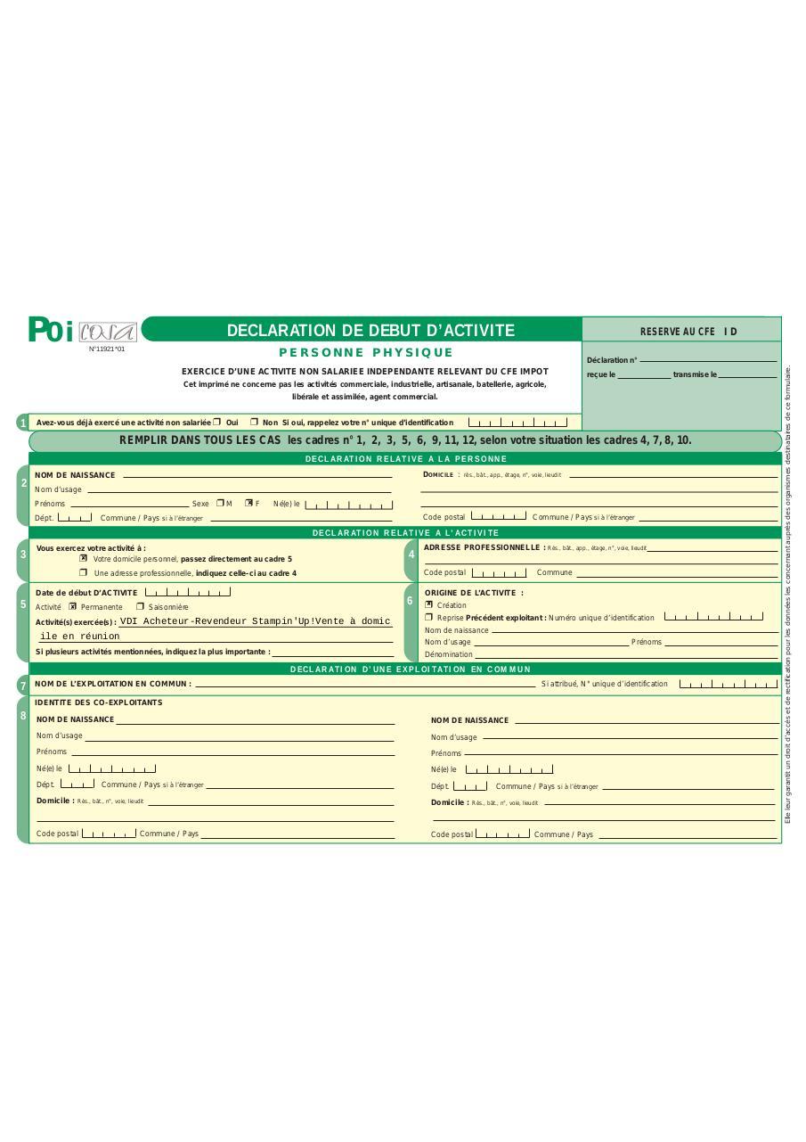 formulaire p0i