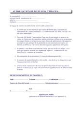Fichier PDF autorisation de diffusion d images