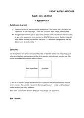 Fichier PDF projet arts plastiques